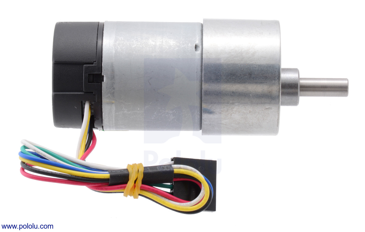 Pololu 1001 Metal Gearmotor 37dx73l Mm With 64 Cpr Encoder Circuit Diagram Of 8 To 3 Overview