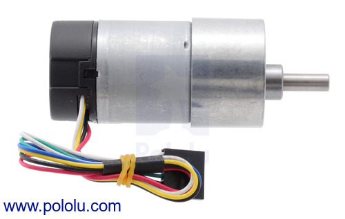 37D mm metal gearmotors with encoders and end caps