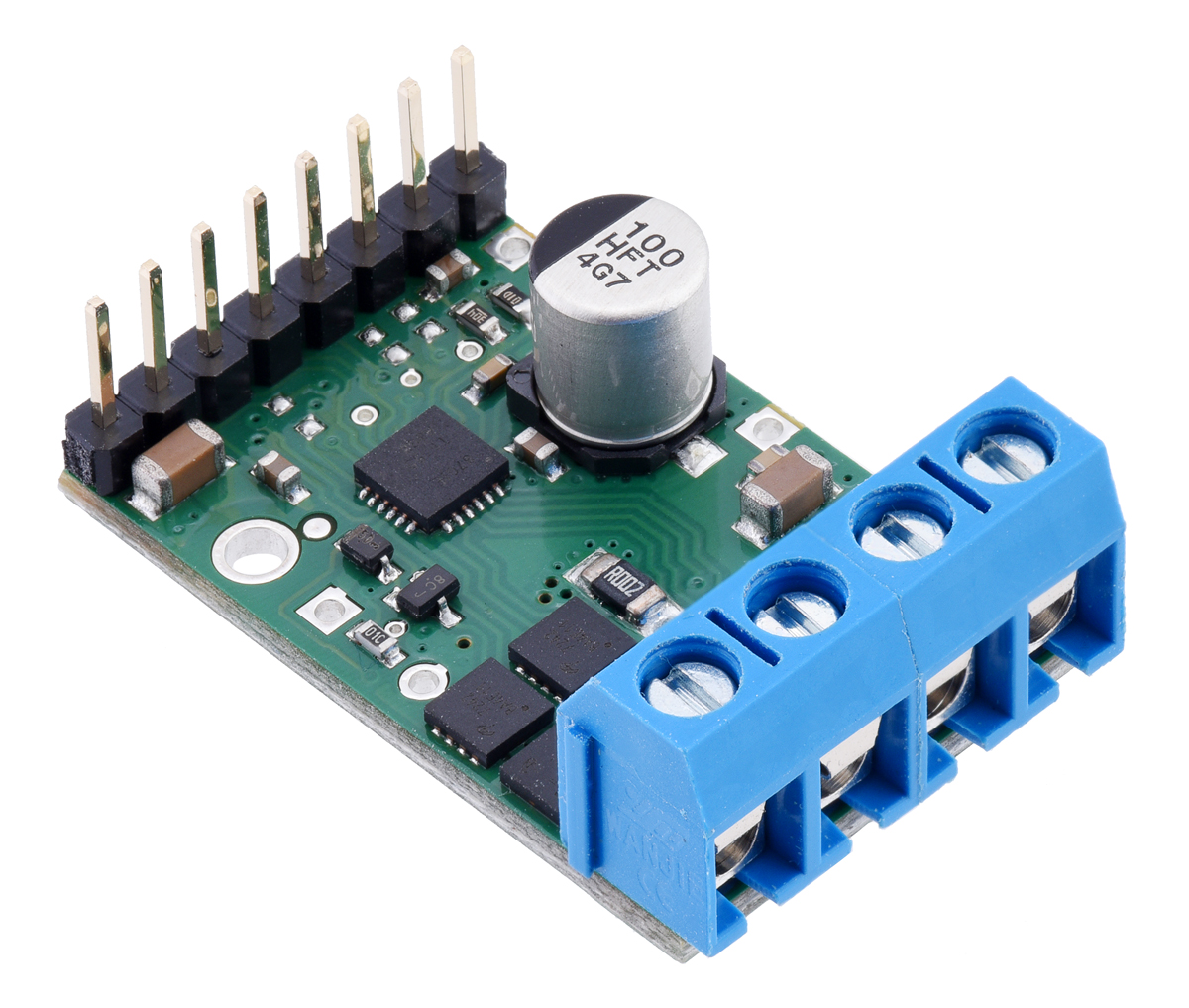 Pololu G2 High Power Motor Driver 24v13 Is A Circuit To Control Speed Uses Pulse Width Modulation Pwm 18v17 Or Assembled With Headers And Terminal Blocks