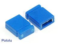 """0.100"""" (2.54 mm) Shorting Block: Blue, Top Closed"""