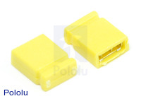 "0.100"" (2.54 mm) Shorting Block: Yellow, Top Closed"