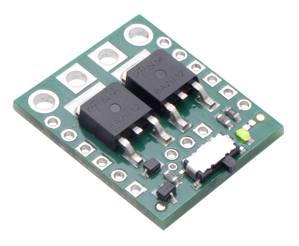 Pololu - Big MOSFET Slide Switch with Reverse Voltage Protection, MP
