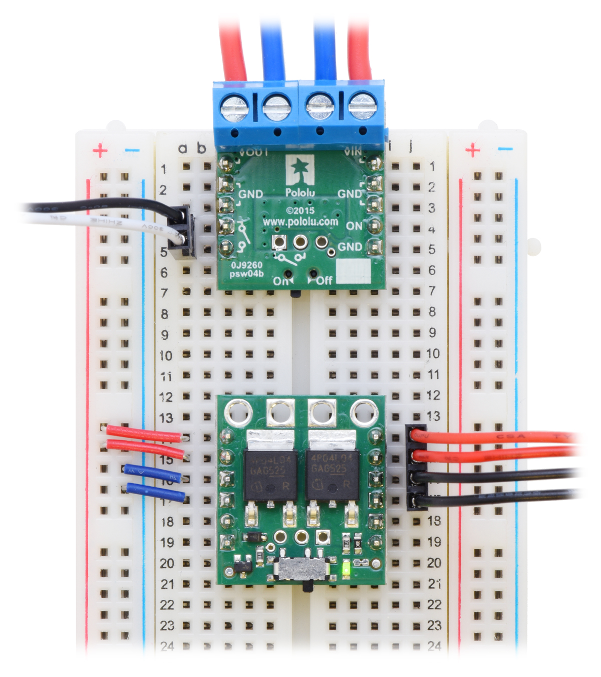 Pololu Big Mosfet Slide Switch With Reverse Voltage Protection Mp Touch Using Fet Included Hardware