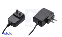 New style of 5VDC 1A wall adapter (item #1469) on the left next to the original style (item #1460) on the right.