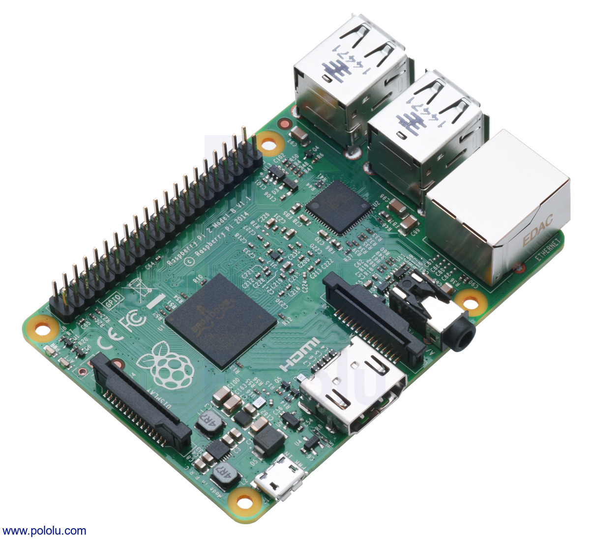 Pololu Raspberry Pi 2 Model B Block Diagram