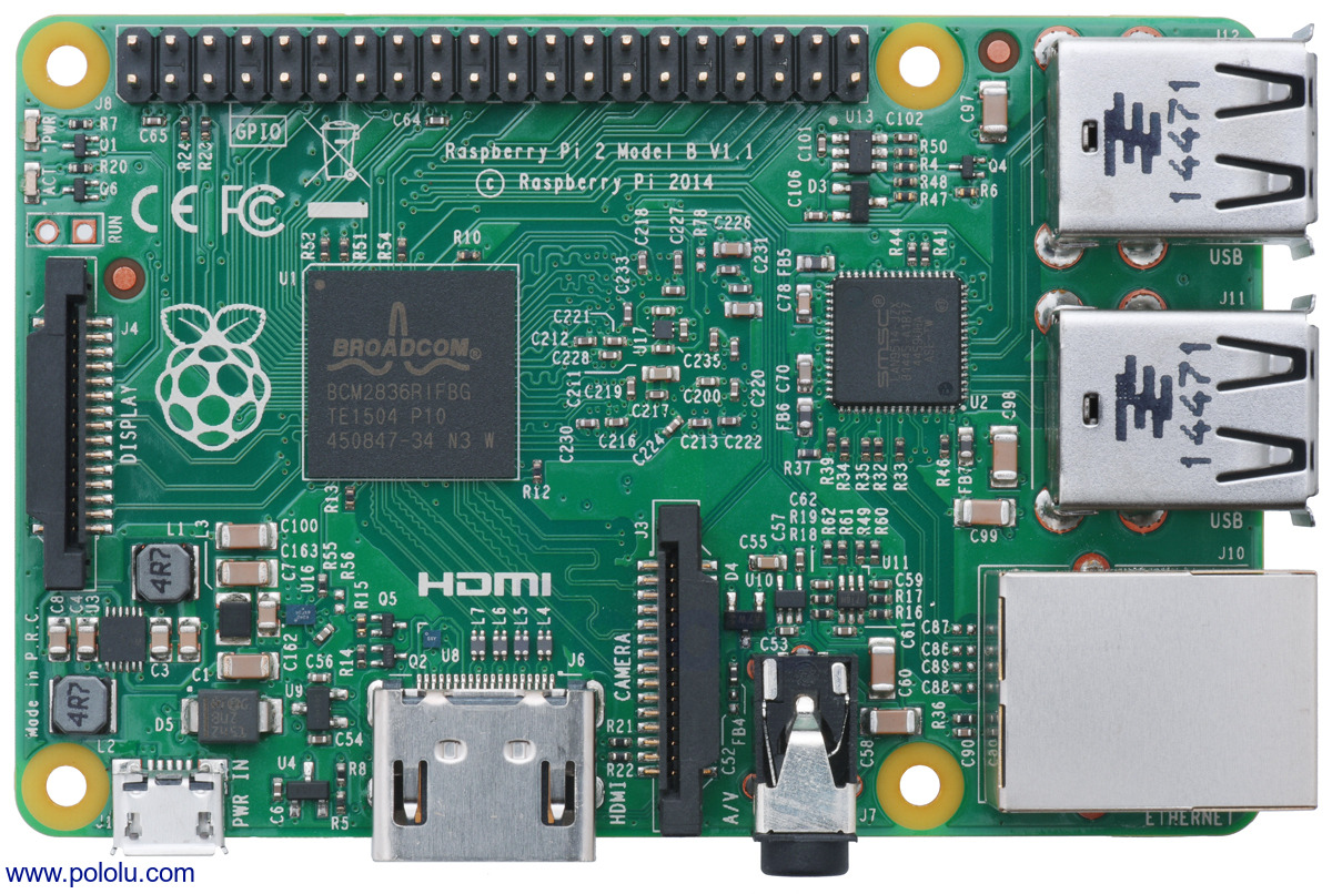 21a335a141b354 Pololu - Raspberry Pi 2 Model B