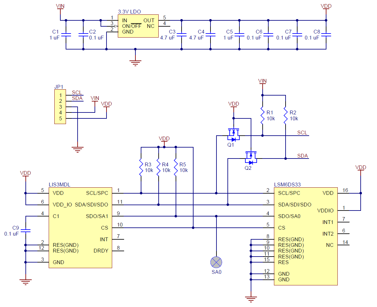 Pololu Minimu 9 V5 Gyro Accelerometer And Compass Lsm6ds33 American Auto Wire Diagram Rate This File Schematic