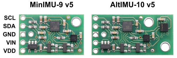 New products: MinIMU-9 and AltIMU-10 v5 IMU boards