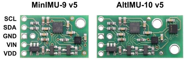 New products: MinIMU-9 and AltIMU-10 v5 IMU boards