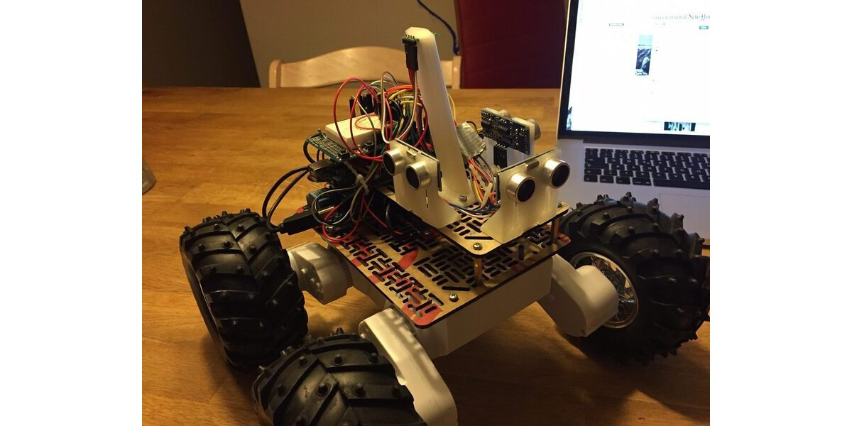Pololu room mapping robot based on the rover chassis