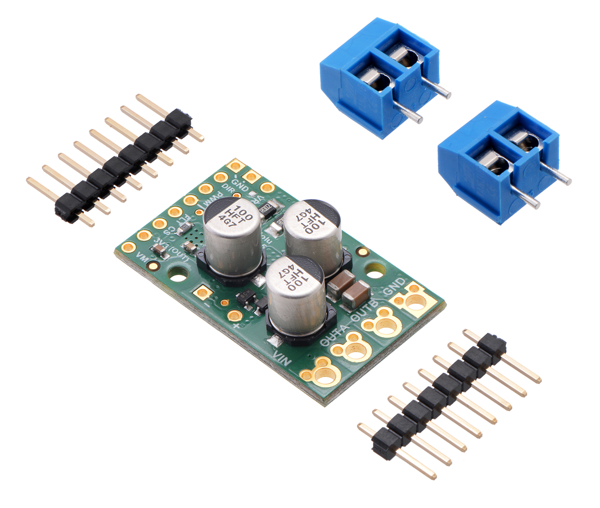 Pololu G2 High Power Motor Driver 18v25 The Series Pwm Controller With Forward And Reverse Above Can Or 24v21 Included Hardware