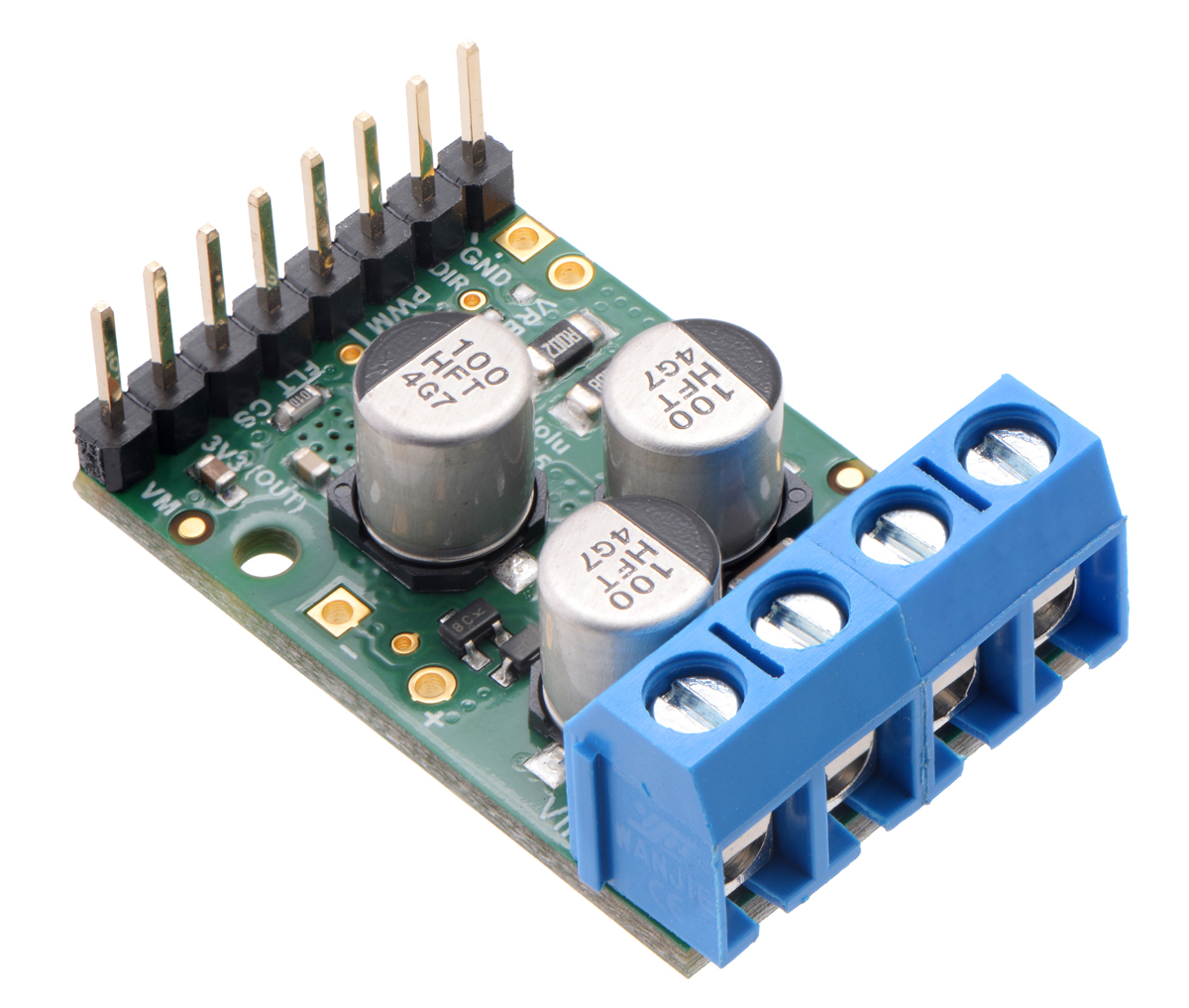 Pololu Brushed Single Mosfet H Bridge Dc Motor Driver G2 18v25 With Circuit Reverse Protection