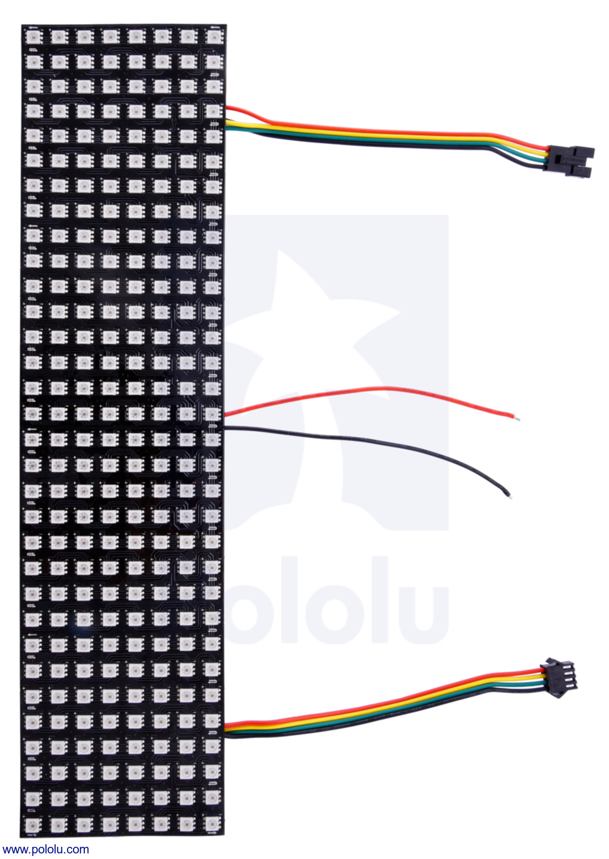 Pololu addressable rgb 8x32 led flexible panel 5v 10mm grid the current draw under 55 a which should generally keep the temperature of the leds below their 70c maximum rating see the recommendations in the greentooth Images