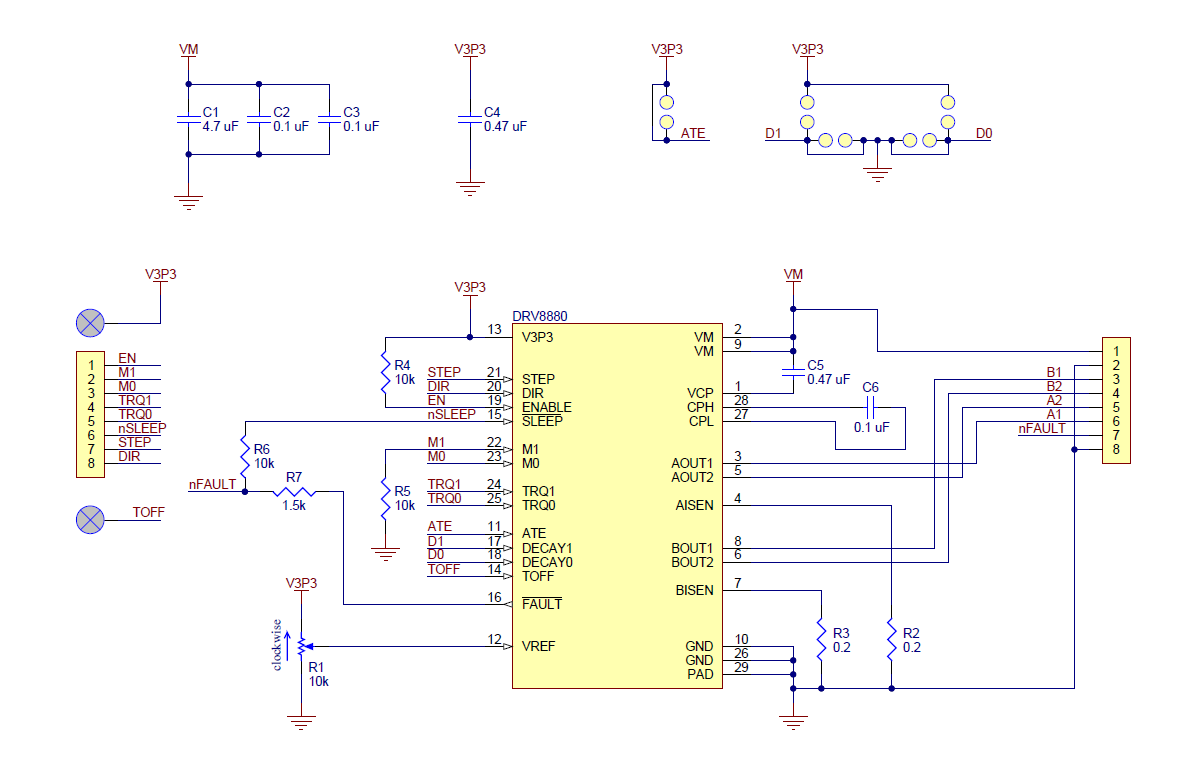 Pololu Drv8880 Stepper Motor Driver Carrier Phase Wiring Diagrams Besides 4 Wire Schematic Diagram Of The