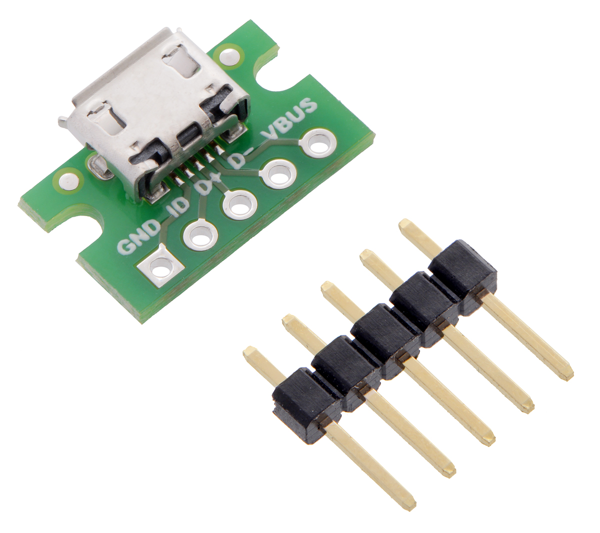 Pololu - USB Micro-B Connector Breakout Board