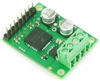 Pololu MC33887 Motor Driver Carrier with optional through-hole parts soldered in.