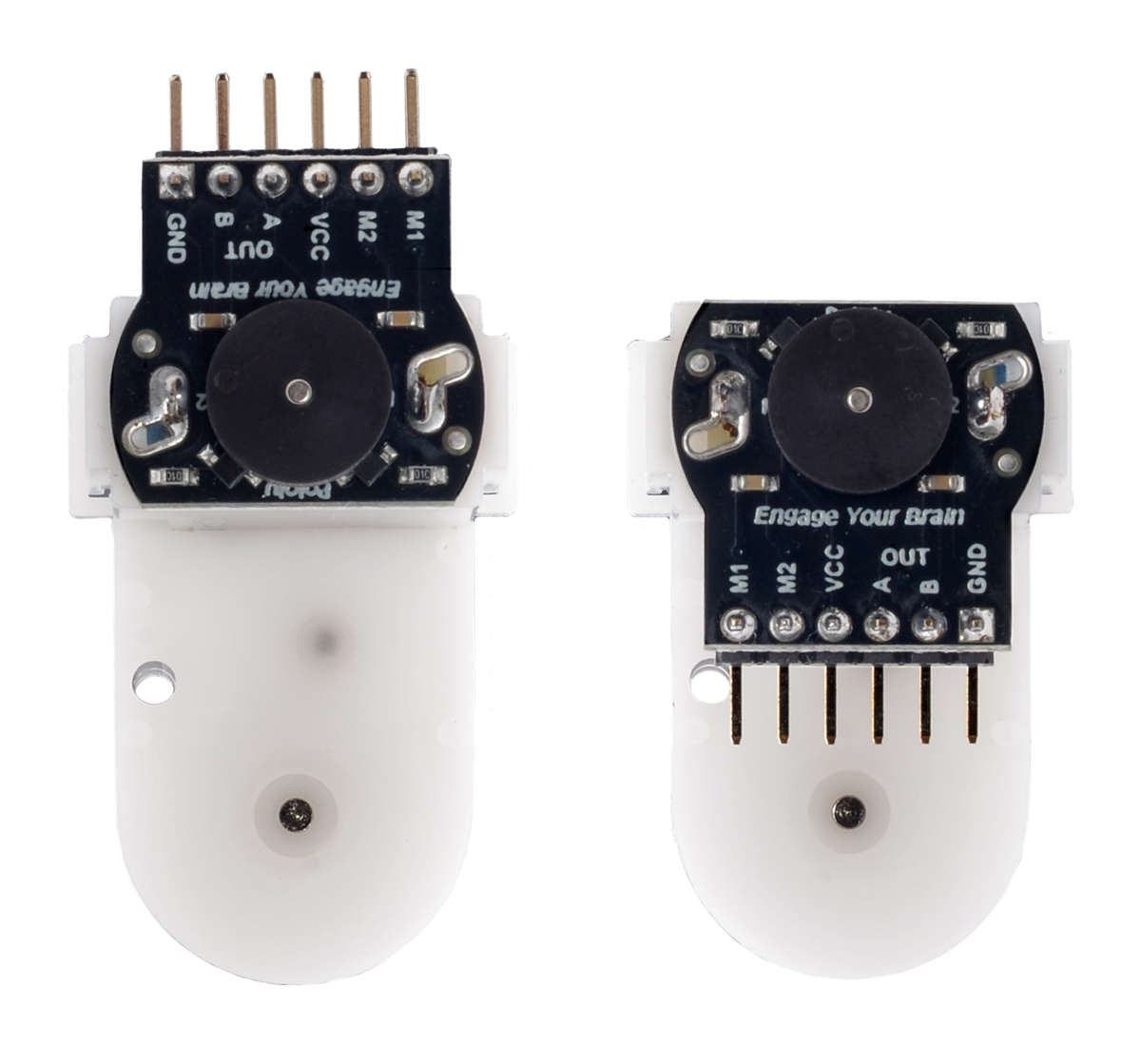 Pololu Romi Encoder Pair Kit 12 Cpr 35 18v Lowcost Shipment Shock Sensor Using A 6pin Sot23 Microcontroller The Motor Portion Can Be Removed From Gearbox And Rotated 180 To Change Whether Connector Pins Point Up Or Down