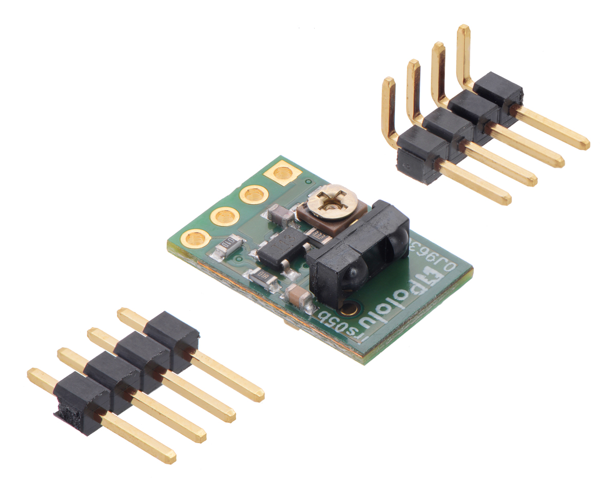 Pololu 38 Khz Ir Proximity Sensor Fixed Gain Low Brightness Led And Photo Diode Object Detection Circuit Diagram Tuning The Emitter Frequency