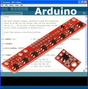 Arduino Pololu QTR-8RC Line Follower - YouTube