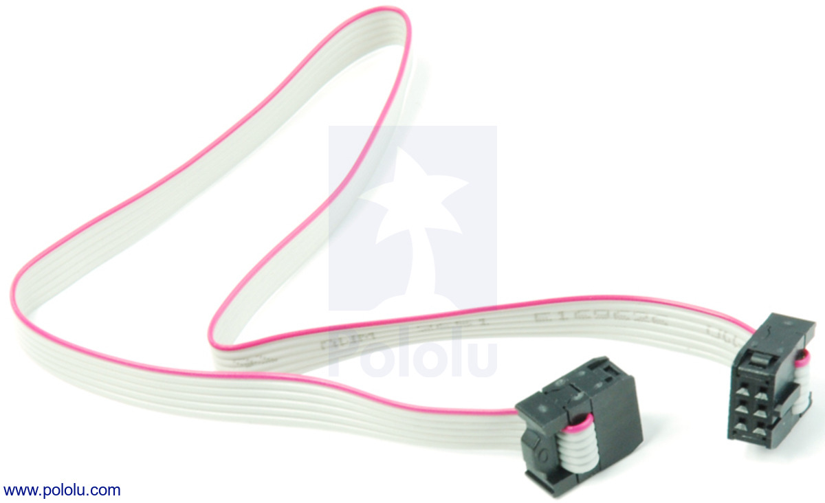 Pololu - 6-Conductor Ribbon Cable with IDC Connectors 12\