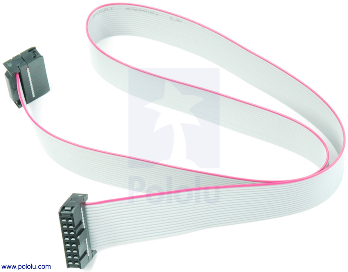 Pololu Cables And Wire Sata To Usb Plug Wiring Diagram 16 Conductor Ribbon Cable With Idc Connectors 20