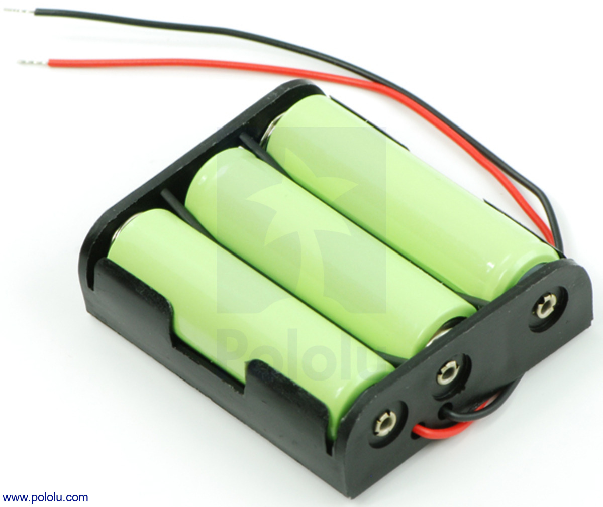 Three Rechargeable AA Ni MH Cells In Our 3 Battery Holder