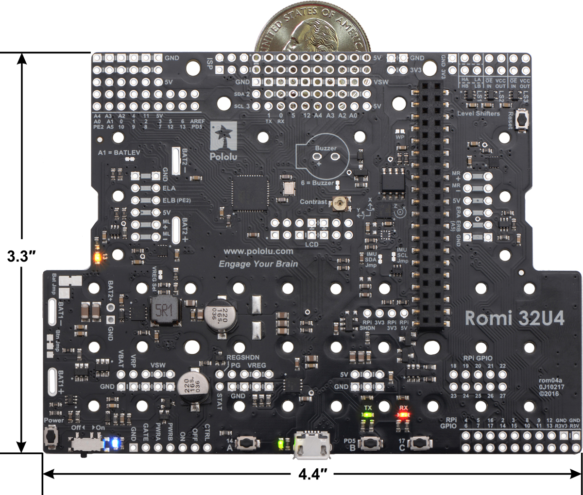 Pololu Romi 32u4 Control Board Basics Updated Using An Accelerometer With Avr Microcontroller Overview