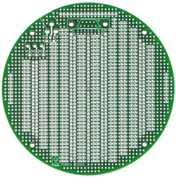pololu pcb01a 5 round prototyping pcb