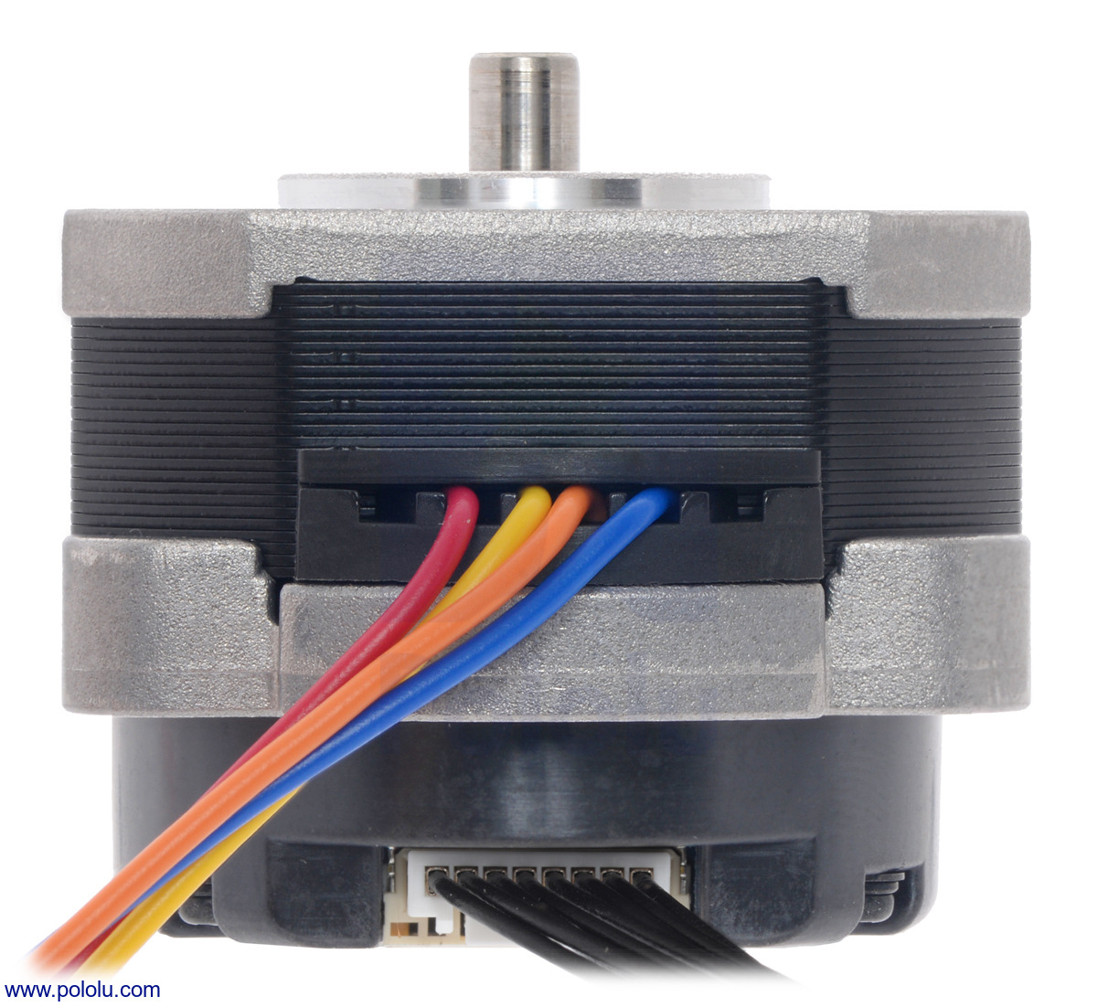 Pololu Sanyo Pancake Stepper Motor With Encoder Bipolar 200 Wiring Diagram 6 Pin Plug Bottom View Of The 42315mm