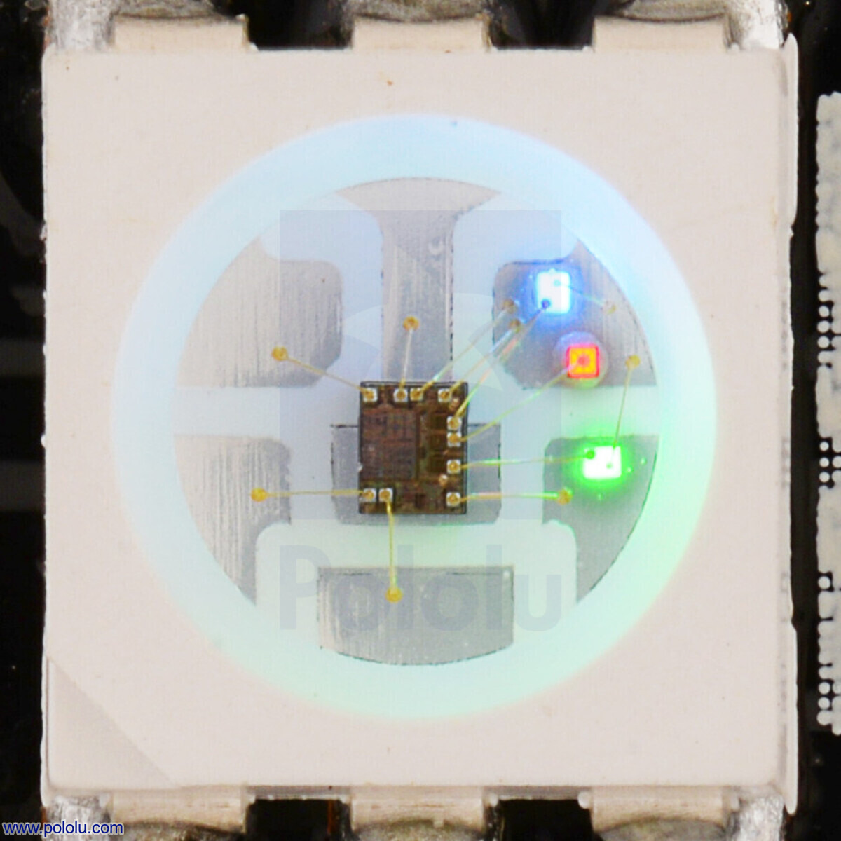 Pololu - Addressable RGB 8x8-LED Flexible Panel, 5V, 10mm Grid (SK9822)