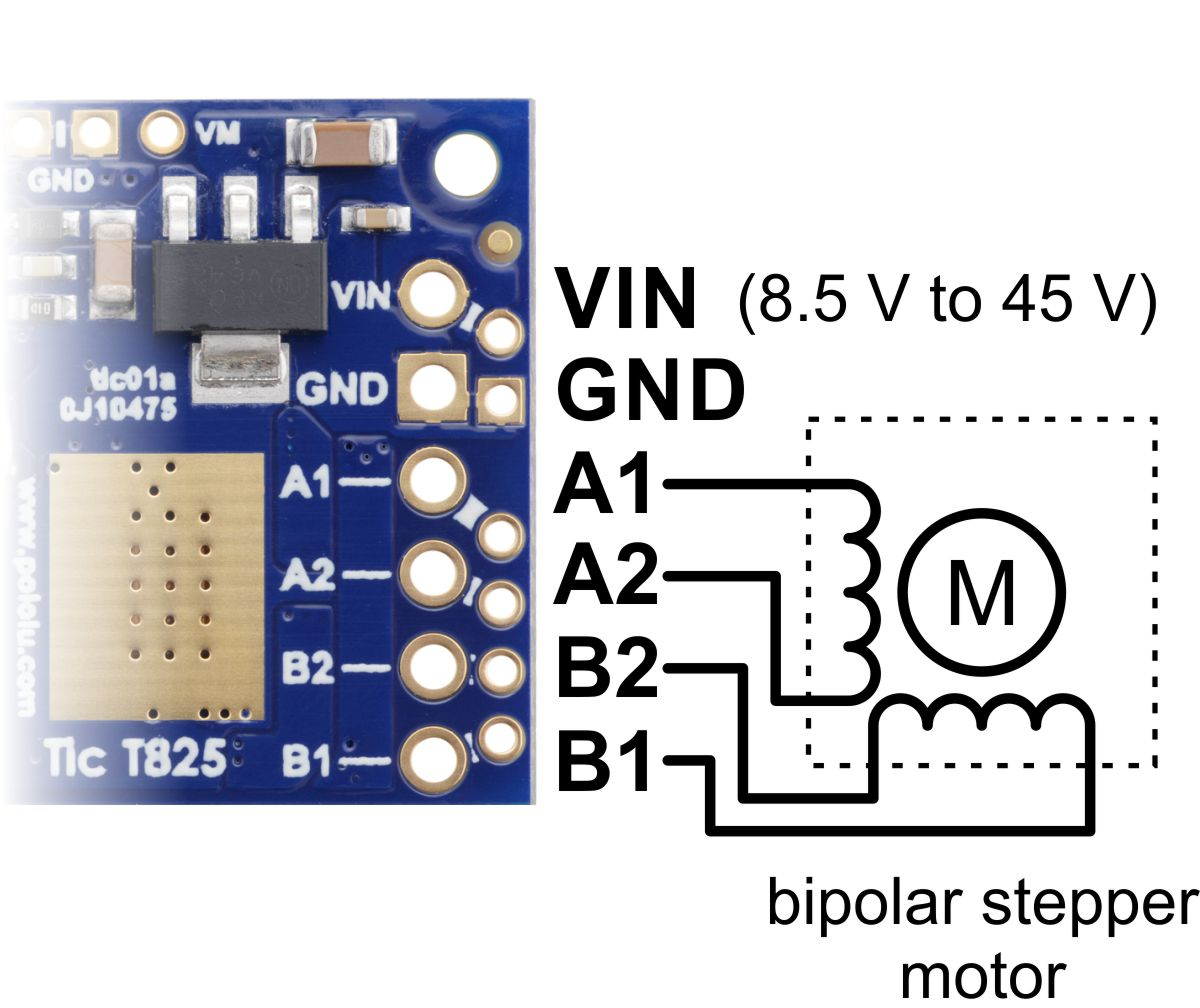 Pololu Tic Stepper Motor Controller Users Guide Voltage Stabilizer Circuit Diagram This Way You Can Ensure That The Is Functioning Before Spend Time Soldering Connectors Or Connecting Other Electronics And If Something Goes Wrong
