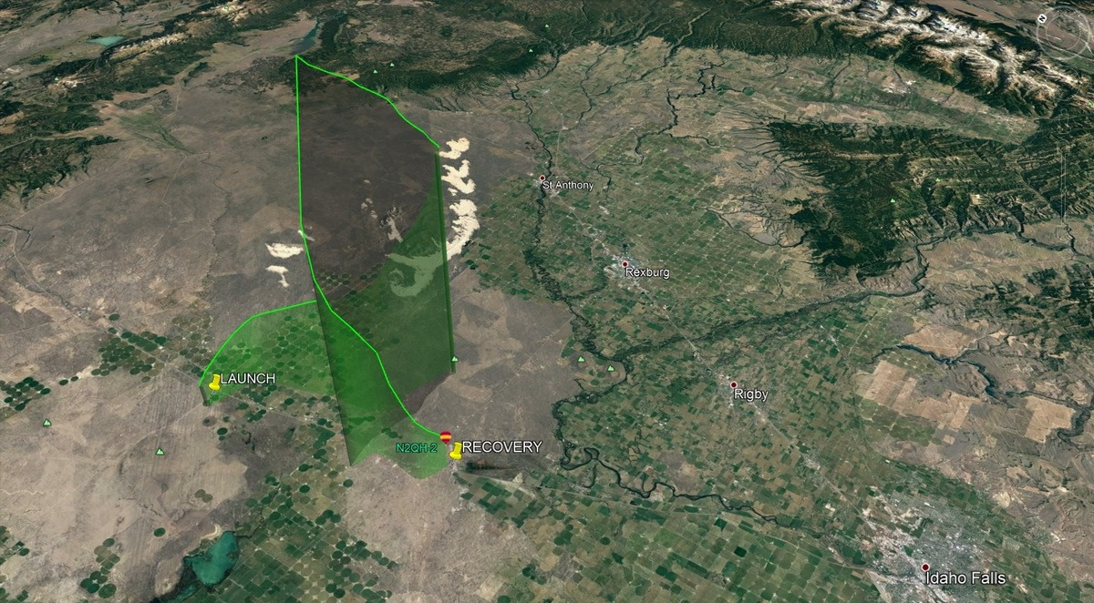 Pololu High Altitude Balloon For The Solar Eclipse Product Fpf1320 Power Multiplexer Carrier With Usb Microb Connector Next Image Below Shows Flight Path Of Unlv During You Can More Closely Examine By Opening This File 2k Kmz In A