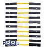 "Premium Jumper Wire 10-Pack F-F 1"" Yellow"