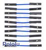 """Premium Jumper Wire 10-Pack F-F 1"""" Blue"""
