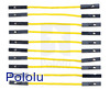 "Premium Jumper Wire 10-Pack F-F 2"" Yellow"