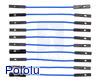 """Premium Jumper Wire 10-Pack F-F 2"""" Blue"""