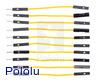 "Premium Jumper Wire 10-Pack M-F 2"" Yellow"