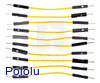 "Premium Jumper Wire 10-Pack M-M 2"" Yellow"