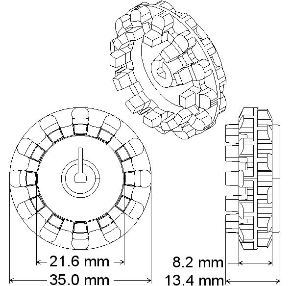 kit chasis de oruga zumo  sin motores  el chasis circular