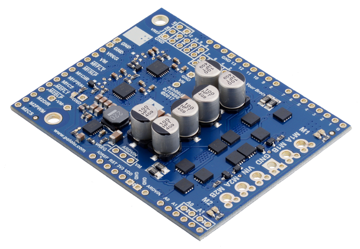 Pololu Dual G2 High Power Motor Driver 24v14 Shield For Arduino Circuit In Addition Led On 12 Volt Dc
