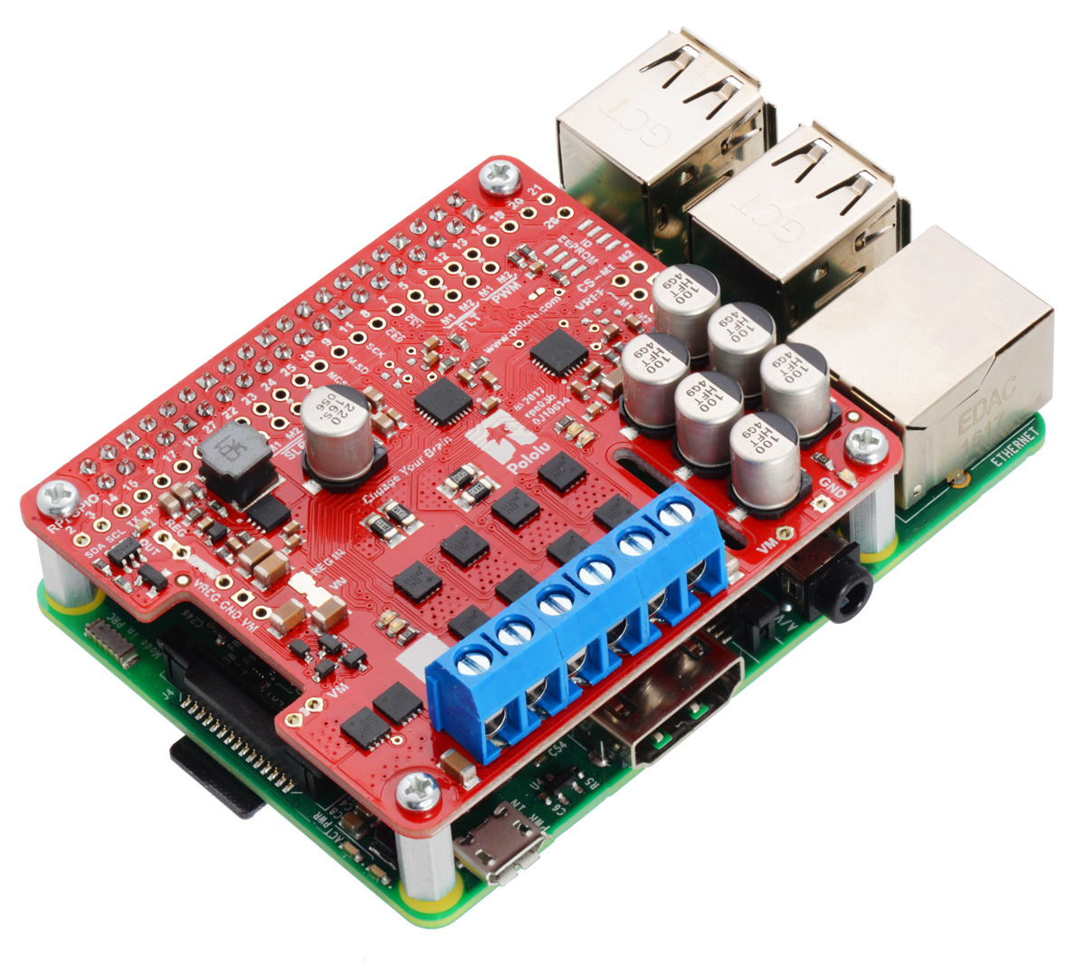 Pololu Dual G2 High-Power Motor Driver 24v14 for Raspberry Pi