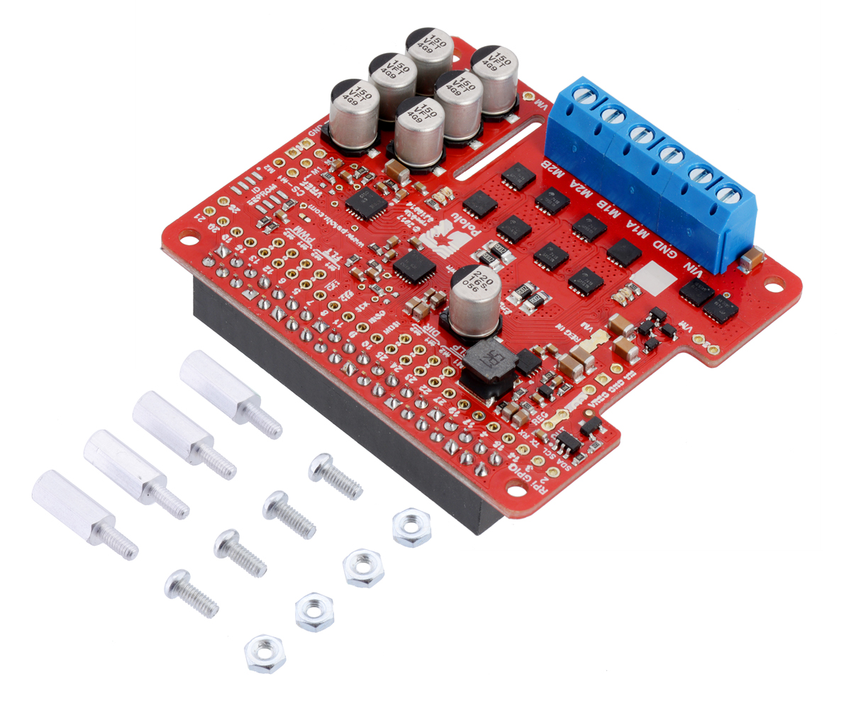 Pololu Dual G2 High-Power Motor Driver 18v18 for Raspberry Pi (Assembled)