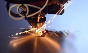 Custom laser cutting of stainless steel.