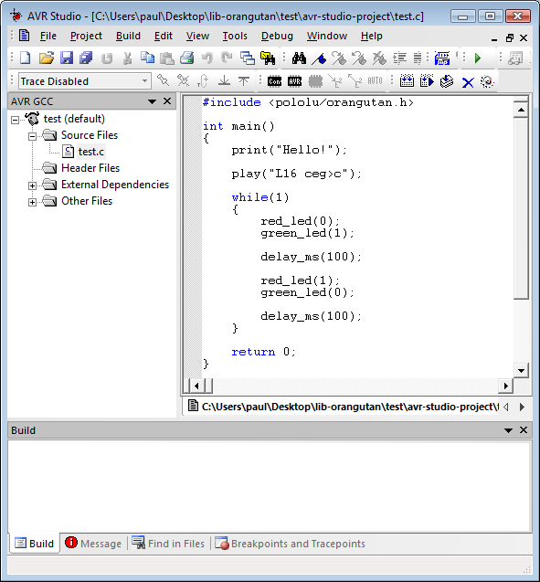 Avr timer interrupt example c.