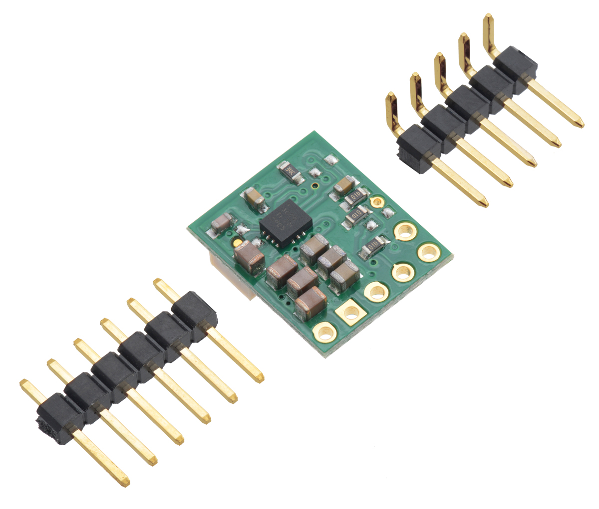 Pololu 25 9v Fine Adjust Step Up Down Voltage Regulator S9v11ma Low Battery Cut Off Circuit Electronic Projects The Through Holes Are Arranged With A 01 Spacing Along Edge Of Board For Compatibility Standard Solderless Breadboards And Perfboards