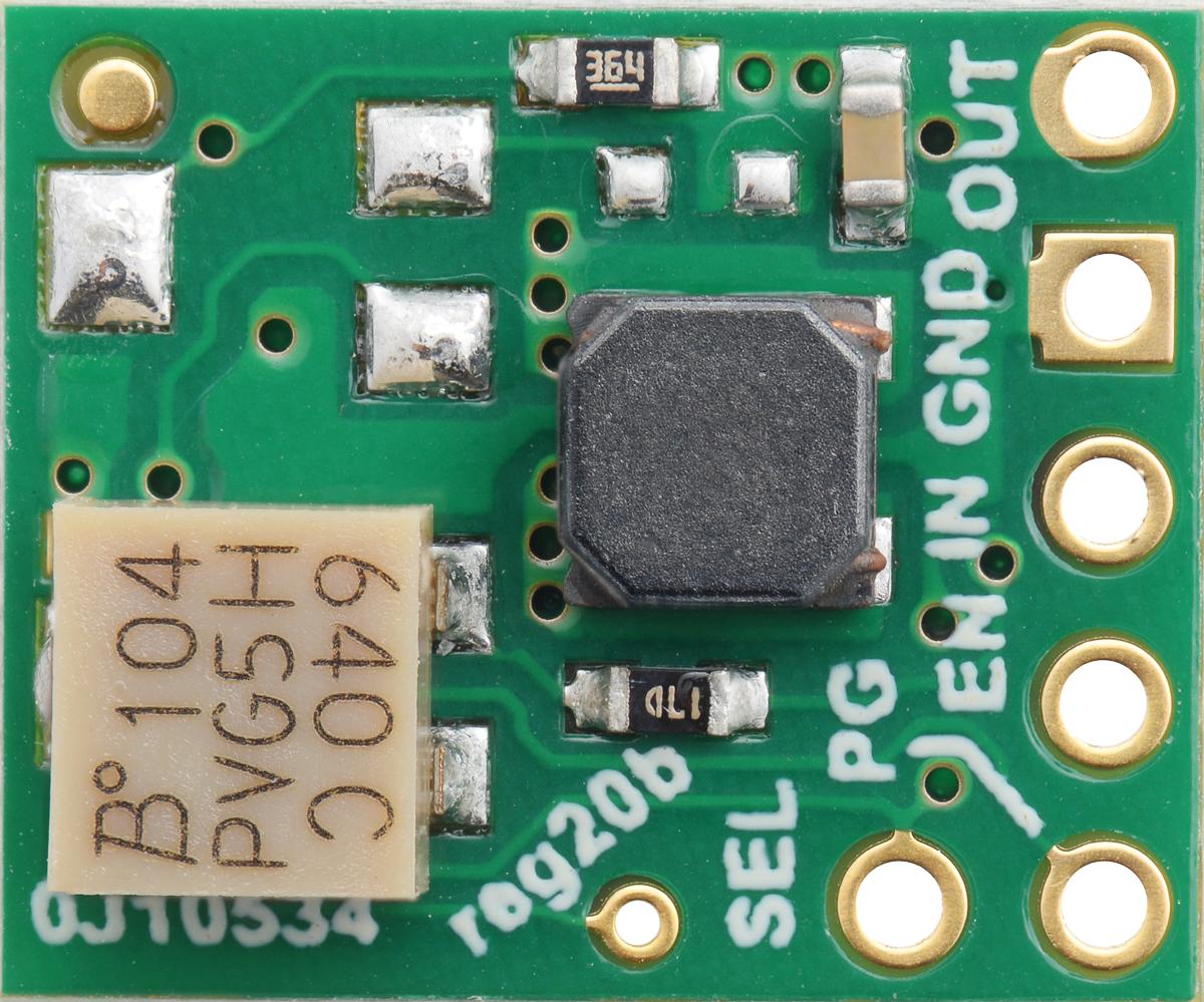 Pololu 5v Step Up Down Voltage Regulator W Adjustable Low Power Switching Cutoff S9v11f5s6cma Silkscreen Side