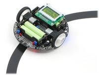 "Pololu 3pi robot on a 3/4"" black line."