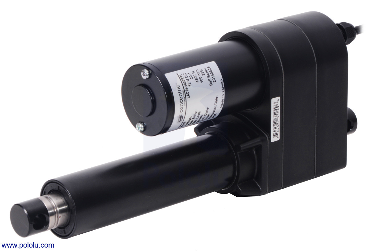 Glideforce LACT4-500APL Industrial-Duty Linear Actuator with Acme Drive and  Feedback: 250kgf, 4