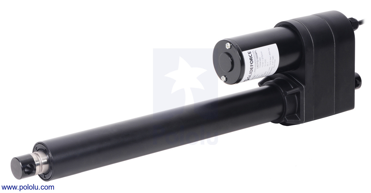 Glideforce LACT12-1000BL Industrial-Duty Linear Actuator with Ball Screw  Drive: 450kgf, 12