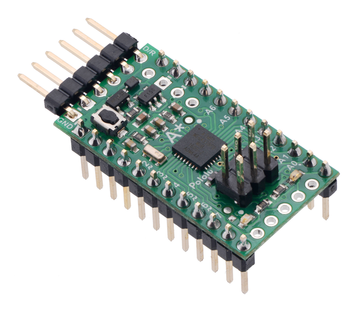 Pololu A Star 328pb Users Guide Why Usb To Serial Port Converter Cant Program Avr Microcontroller Micro With Included Header Pins Soldered For Breadboard Use